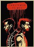 DUDUANLIAN Canvas Poster Twenty One Pilots Poster Vintage