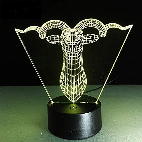 Geschenke für Väter Geburtstag 3D-Lampe Nachtlicht 3D-Kamera Touch Led 7 Farbwechsel Licht Licht Kinder Kinder Wohnzimmer/Cedroom Tisch/Schreibtisch Lampe Lampe Geburtstag GIF T mit Fernbedienung
