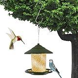 1 pc Mangeoire à Oiseaux Suspendue d'extérieur Poids léger Station d'alimentation de Jardin d'accessoire de Cage à Oiseaux Suspendue avec Crochet Bien pour des Oiseaux