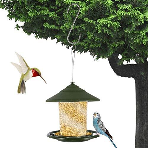 buycheapDG(JP) バードフィーダー 餌入れ プラスチック 吊下げ 屋外 餌台 餌やり 餌場 野鳥観察 バードフィーダー 掛け式 S型フック付き ペット用品 鳥 ペット食器 餌箱 バード用品 18x16cm 給餌器