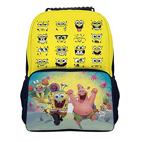 Mochila escolar, mochila para niños y adolescentes, bolsa de escuela de gran capacidad, mochila para niños, bolsa de almuerzo, hermosos regalos para adolescentes, Bob Esponja,