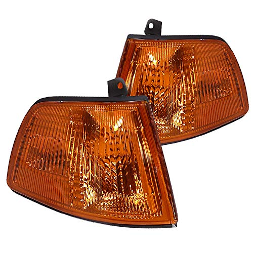 Spec-D Tuning Amber Lens Corner Lights for 1990-1991 Honda Civic 2/3Dr Parking Signal Lamps Assembly Left + Right Pair