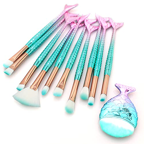 11Pcs Cute Makeup Brushes Set for Girl, Foundation...