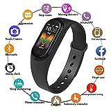 Auveach Smart Watch Intelligente Bracciale M5 Blood Pressure IPS Schermo Pedometro Ossigeno Cardiofrequenzimetro Impermeabile IP68 Braccialetti Tracker (Nero)