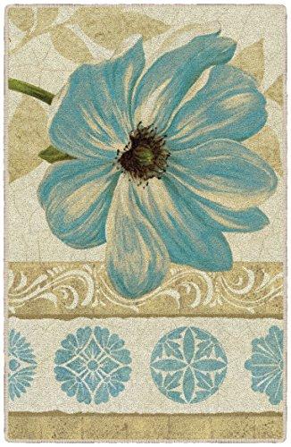 Brumlow Mills Garden Fete Pastel Poppies Floral Area Rug for Kitchen, Entryway, Living Room or Bedroom, 2'6' x 3'10', Single Flower