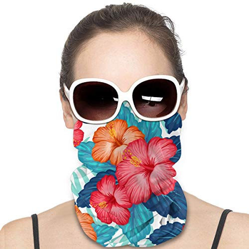 Hawaiian Exotic Tropical Hibiscus Flower in Summer_Waifu2x_Photo_Noise3_Scale_TTA_1 Face Scarf Cover Outdoor Sport Running Women Men Face Cover Variety Face Towel Neck Headband