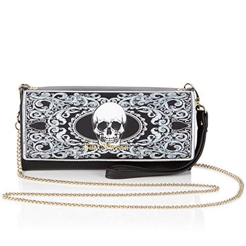 Shagwear Clutch handtasche Portemonaie Geldbörse für Damen Mädchen Schädel Skull