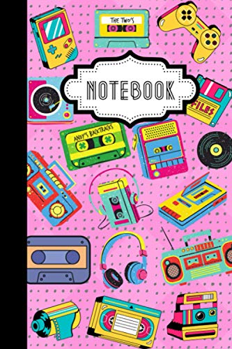 Notebook: Retro Electronic Gadgets: 120-page 6' x 9' Blank...