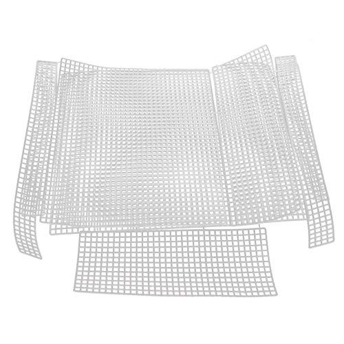 Artibetter 2 Juegos de Bolsas de Ganchillo Que Hacen Placas Que Tejen El Bolso DIY Hojas de Rejilla Bolsa Que Hace Punto La Placa de Malla de Plástico de Hojas de Lona Kit