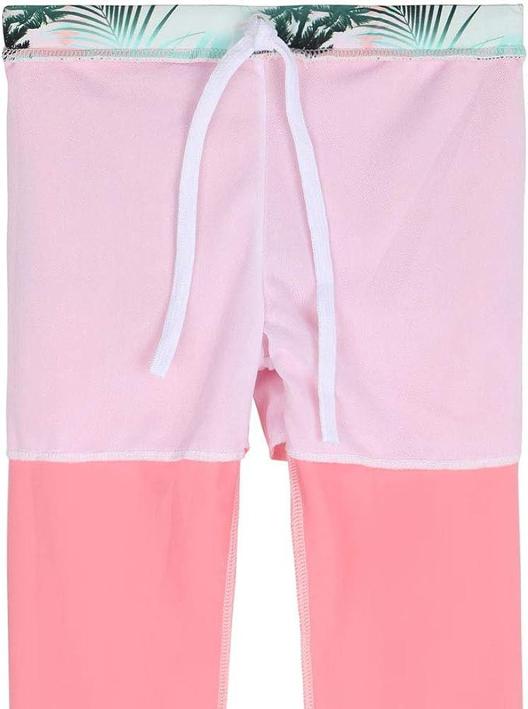 TFJH E Girls Long Sleeve Swimsuits Skirt 2-Pieces Rash Guard Set Sun Protection UV 50+