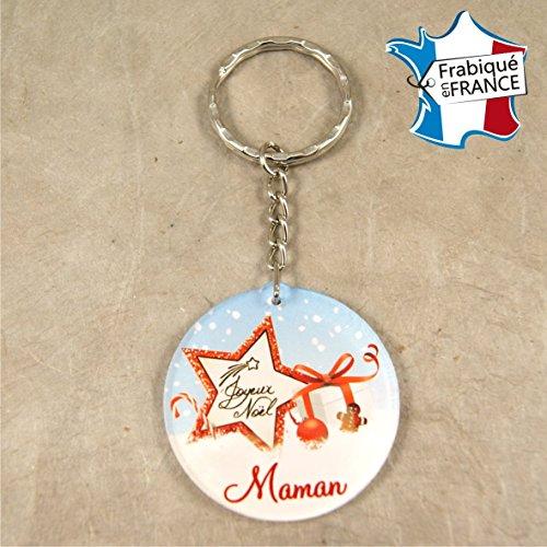 Porte Clef – Joyeux Noël Maman (Cadeau de Noël pour Maman - décoration de Sapin)