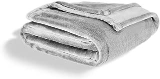 Fleece Blanket Throw Size | Soft & Plush, Lightweight Design | Light Gray Throw Blanket for Bed or Sofa