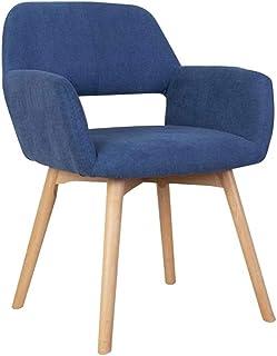 FDN Cocina Estilo Vintage Dining Chairs,para Sillas de Comedor Y Sala de Estar Sillas de Cocina de Madera Terciopelo Sillón De Relajación Sillas de Comedor (Color : Blue)