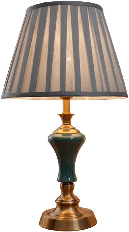 HLQW Keramik Tischlampe, Schlafzimmer Nachttischlampe, europäischen Stil Schlafzimmer Lampe B07JM532X5     | Perfekt In Verarbeitung