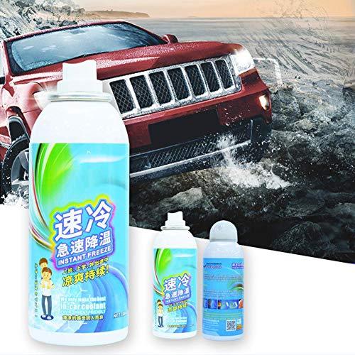 Agent de refroidissement par air de voiture, spray de rafraîchissement de refroidissement rapide par air d'été pour les voyages de sport en voiture d'été - Réduisez rapidement la température tableau