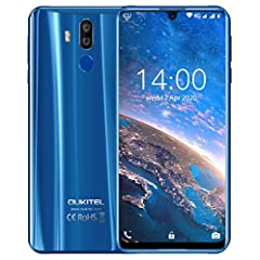 【7.12 Inch Full HD+ Waterdrop Display & 6000mAh Battery】--OUKITEL K9 with 7.12 inch ( 1080X2244 Pixel ) Clear and big screen to watch together, play games and watch videos with friends, enjoy more.(Protective case include in the package) 【16MP + 8MP ...