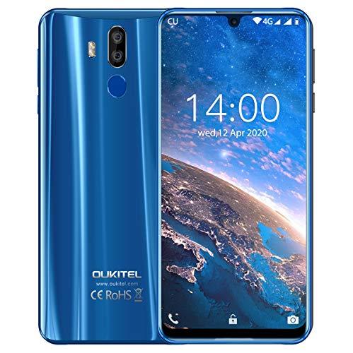 OUKITEL K9 7,12 Zoll FHD+ Großer Bildschirm Smartphone Ohne Vertrag 4G Dual SIM Smartphone 4GB RAM+64GB ROM 6000 mAh 30 Watt Schnellladung Kostenlose Handyhülle EIN Jahr kostenlose Garantie(Blau)