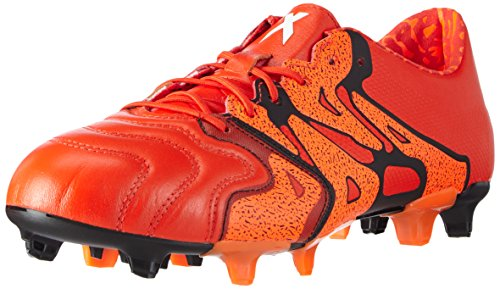 adidas Herren X15.1 FG/AG Leather Fußballschuhe, Rot (Solar Orange/Core Black/Bold Orange), 41 1/3 EU