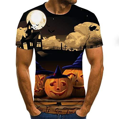 T Shirt Men Clothes Mens Summer Skull Print Men Short Sleeve T-Shirt 3D Print T Shirt Casual Breathable Funny T Shirts XXL Txu-1434