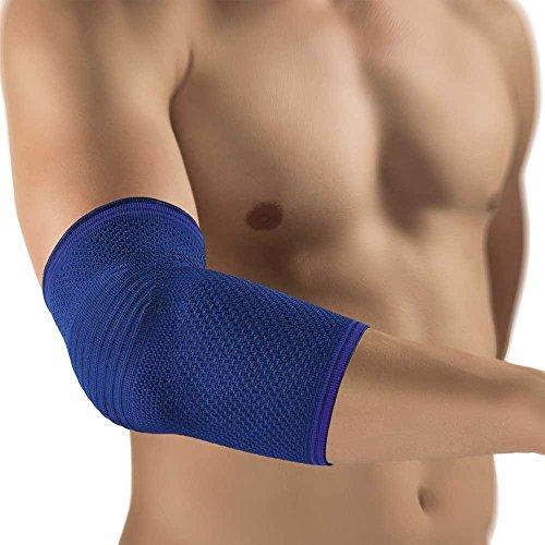 Bort KubiTal® Ellenbogen Polster Bandage Stütze, blau, XS