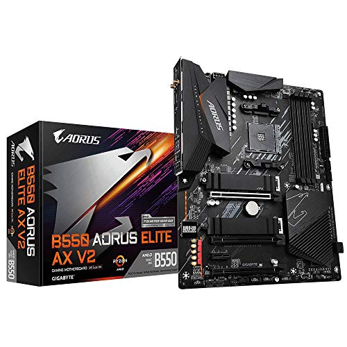 Gigabyte B550 Aorus Elite AX V2 ATX Mainboard Sockel AM4 M.2/HDMI/DP/USB3.2