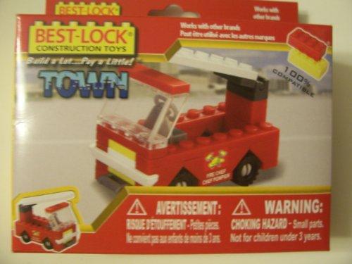Best-Lock Construction Toys 36 Piece Set ~ Fire Chief Pumper