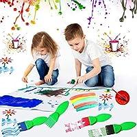 Pittura Spazzole Kit,56 Pezzi Di Pennelli In Spugna E Kit Di Tazze Di Vernice, Set Di Pennelli Per Bambini Con Grembiule, Set Di Pittura Per Bambini Per Apprendimento Precoce Per Bambini E Progetti #4
