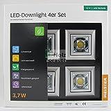 MEISTER LED Downlight Quadro 12Volt 3,7Watt, 4er Set, Titan