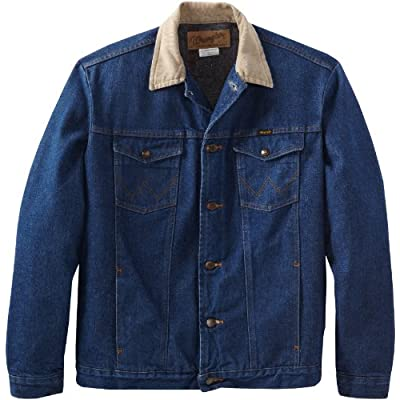 Wrangler Men's Tall And Big Blanket Lined Denim Jacket
