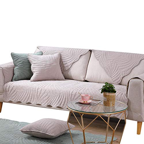 rutschfeste Couch Armchair Slipcover aus moderner Baumwolle Rutschfeste1/2/3/4 Sitzer Sofa Handtuchbezug,Stoff Sofa Protector Covers,Khaki,80X240cm