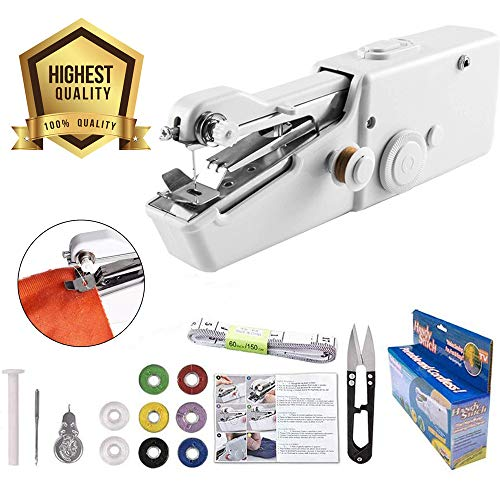 Buy Bargain Handheld Sewing Machine Yibaision Portable Stitching Machine Cordless Craft Mini Beginne...