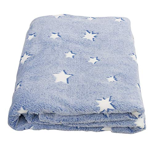 Product Image of the SOCHOW Glow in The Dark Throw Blanket 60 x 80 Inches, Stars Pattern Flannel...