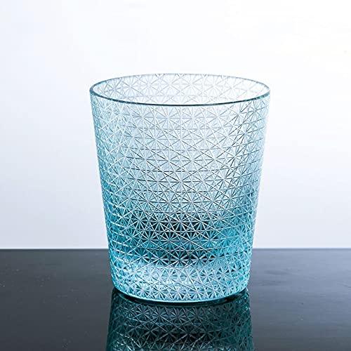 切子グラス キリコ レイクブルー 水色 おしゃれ 単品 切子オールド タンブラー 220cc 来客用 ガラス コップ ビール お酒 ウイスキー カットグラス 食洗機対応
