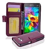 Cadorabo Funda Libro para Samsung Galaxy Grand Prime en Burdeos Violeta - Cubierta Proteccíon con Cierre Magnético e 3 Tarjeteros - Etui Case Cover Carcasa
