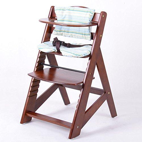 Hochstuhl Babyhochstuhl Treppenhochstuhl Kinderhochstuhl Kindertreppenhochstuhl WALLNUß HC2533-D02 G