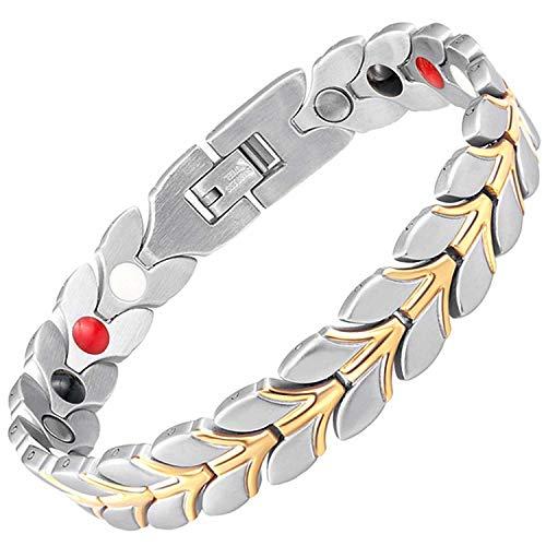 Damen Armband negativer Ion-magnetisch Heilkräfte Armband Schmerzlinderung Detox Energie Magnettherapie Gesundheit Armband für Frauen alle Größen + Geschenk-Box–wgs4 22.5 cm / 8.85 in