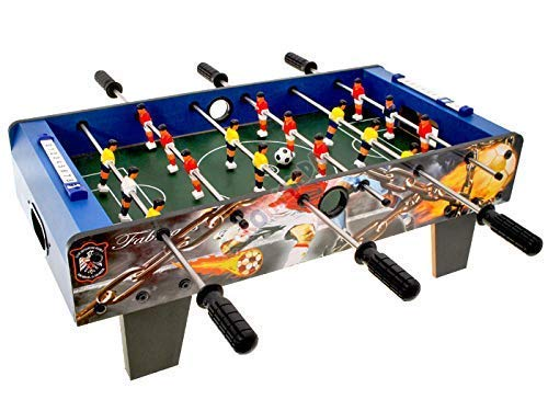 Kemfye Football Foosball Table Top Game, 6 Rows Fun Table with Legs, Indoor & Outdoor Table Soccer Game Presents for for Kids Teens and Adults. (Table TOP Football) 69*35*24 cm