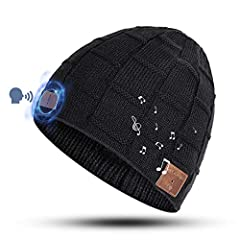 【Voice Control - New Tech】Our bluetooth beanie hat has implanted voice control chip. Via specific voice commands, you can easily manage hands-free calls, wireless music streaming, volume adjustment, play/pause or skip tracks. 【Stable Connection】Equip...