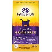 Wellness Complete Health Grain-Free Indoor Healthy Weight Chicken Recipe Dry Cat Food, 5.5 Pound Bag