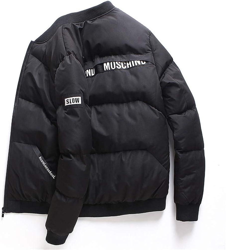 EFFIE Men's Casual Hooed Hoodies Pure Cotton Warm Winter Jacket Coats (Black, L)