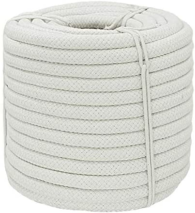 YUZENET Solid Braided Cotton Rope 1 2 inch x 50 ft Thick Utility Rope for DIY Crafts Clothesline product image