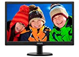 Philips 193V5LSB2 Monitor 18.5' LED, 5 ms, VGA, 1366 x 768 a 60 Hz, Attacco VESA, Nero