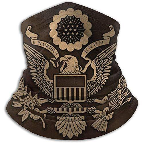 Kenice Halswärmer Das Große Siegel des Us-Amerikanischen Goldhals-Gamaschenrohrs,des Ohrwärmer-Stirnbandes Und Der Gesichtsmaske Ultimative Wärmespeicherung,Vielseitigkeit Und Stil