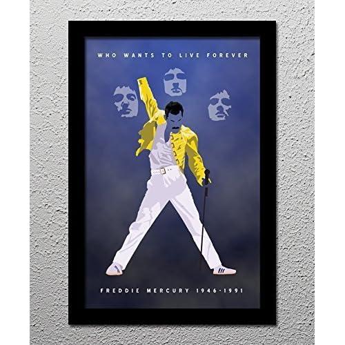Queen Freddie Mercury - Orignal Minimalist Art Poster Print