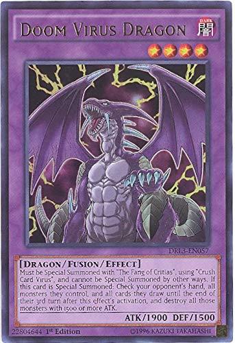 YU-GI-OH! - Doom Virus Dragon (DRL3-EN057) - Dragons of Legend: Unleashed - 1st Edition - Ultra Rare