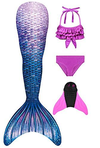 Decool Mädchen Meerjungfrau Baby- und Kleinkind Zweiteiliger Bikini, Ps02, 130-140