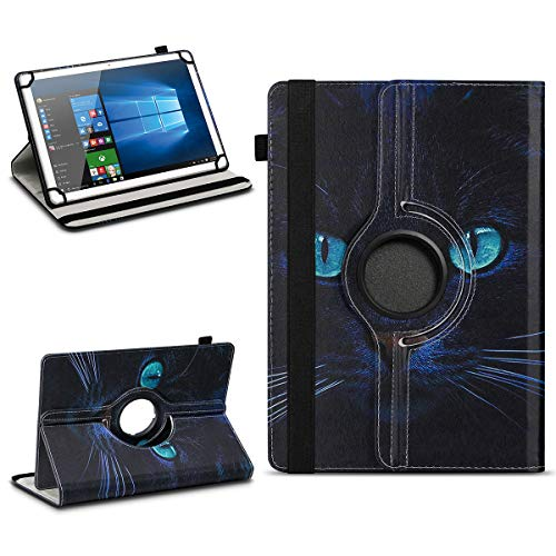 NAmobile Tablet Hülle kompatibel für TrekStor Surftab Breeze 10.1 Quad Tasche Schutzhülle Cover Drehbar Universal Hülle, Farben:Motiv 3