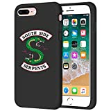 Riverdale Phone Case for iPhone 7 Plus/iPhone 8 Plus,Riverdale Merchandise Soft TPU Riverdale Southside Serpents iPhone Plus Case/iPhone 8 Plus Case (Black)