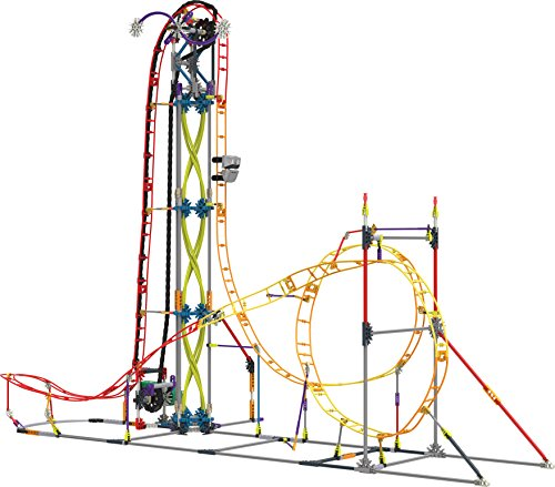 K'NEX Thrill Rides – Electric Inferno Roller Coaster Building Set – 639...
