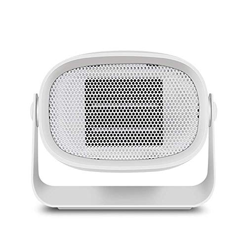 Kibath Calefactor eléctrico Mini Calentador Calentador de hogar Calentador Peque?o de Escritorio Ventilador Calentador portátil Mini Calentador de Regalo (Color:Rosa) (Color : White)